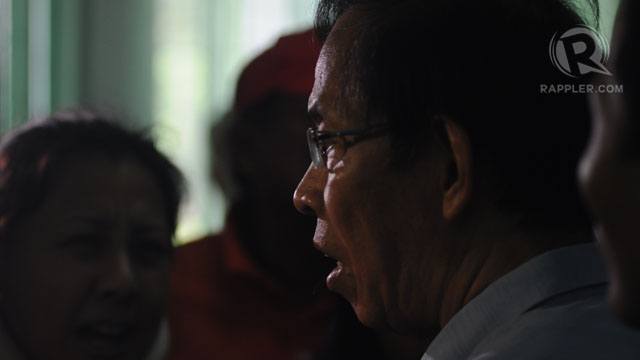 PALPARAN. Jovito Palparan being interviewed after a hearing in 2011. Photo by Geloy Concepcion